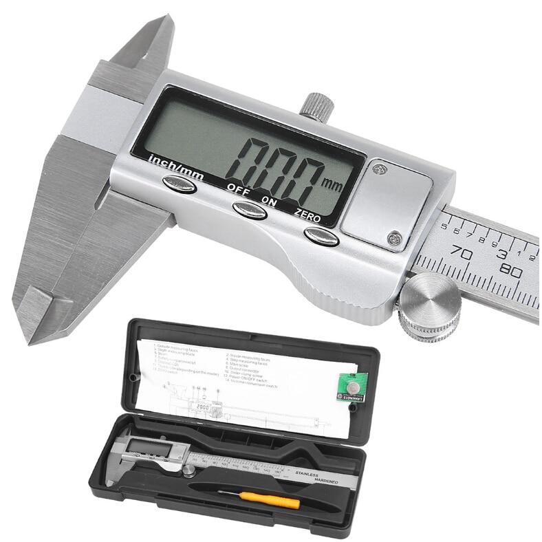 все цены на LIXF Metal 6-Inch 150mm Stainless Steel Electronic Digital Vernier Caliper Micrometer Measuring онлайн