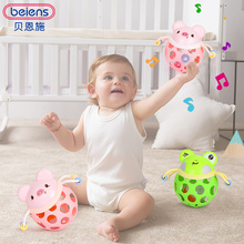 Beiens Baby Rattles Soft Toys For 0-12 Months Baby Cute Frogs Piglets Hand Bell Learning Educational Toys For Newborns Kids Gift