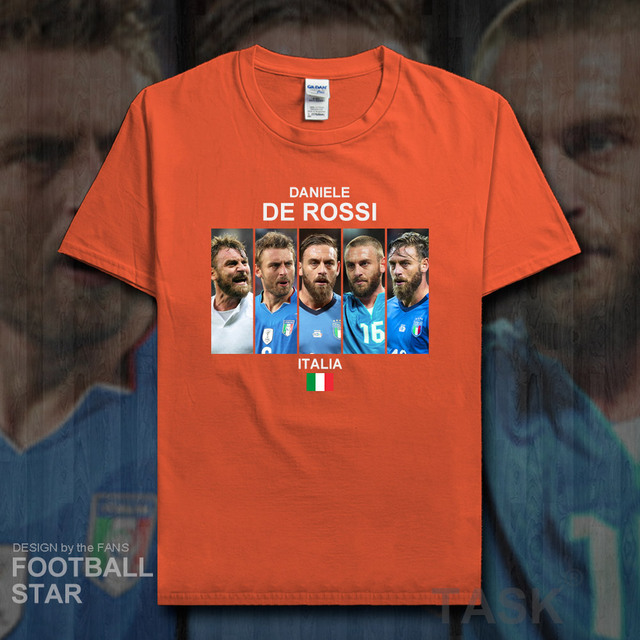 c6d8f2aced7eb US $5.99 |De Rossi t shirt men jerseys Italy footballer star brand tshirt  cotton fitness t shirts printed Roma clothes summer tees new 20-in T-Shirts  ...