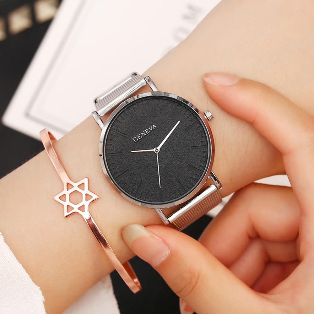 Women Watch 2019 Top Brand Luxury Stainless Steel Silver Mesh Quartz Wristwatches Fashion Simple Ladies Watch Reloj Mujer Xfcs