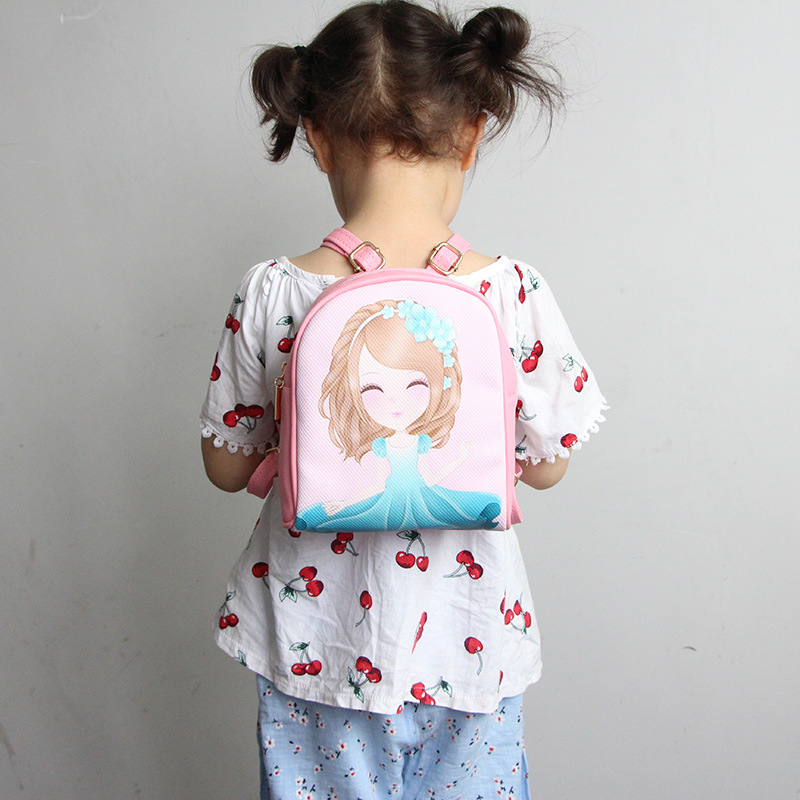Hot Sale Kids Girls Cartoon Printed Backpack PU Leather Children Mini Schoolbag Backpacks Gift For Kid Children Popular