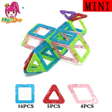 Mini Magnetic Designer Building Blocks 25pcs Construction Kids Educational Toys For Children Plastic Creative Bricks Enlighten