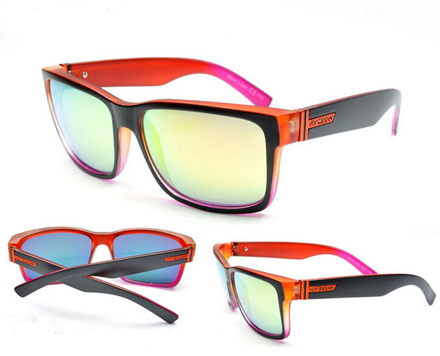 חדש 14 צבעים פון רוכסן אלמור eyewear משקפי שמש משקפיים שמש גברים 2018 משקפיים עם צבע תיבת oculos דה סול