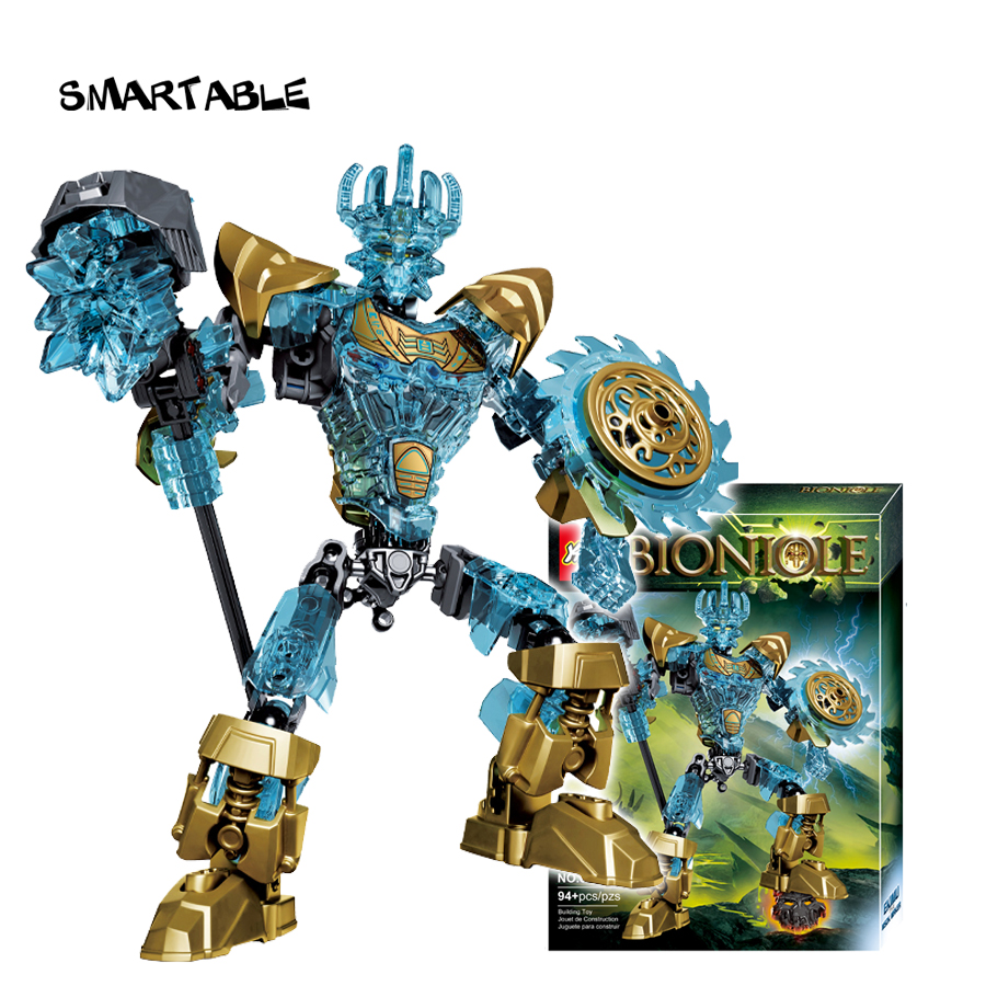 Smartable BIONICLE 94pcs Ekimu The Msdk Maker Figures 613-1 Building Block Toy Set For Boy Compatible All Brands 71312 BIONICLE