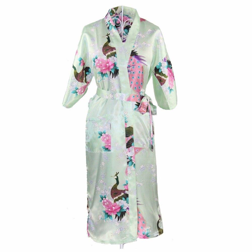 Chines Satin Long Nightgown Sleepwear