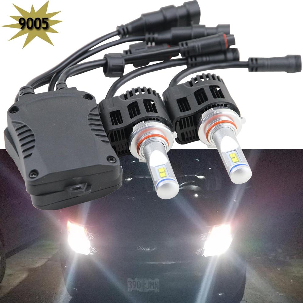 1 set 9005 HB3 9011 9005SL LED Headlight Bulbs Conversion Kits for Car Halogen HID Xenon 110W 10400LM 6000K White Lamps 55W/Bulb