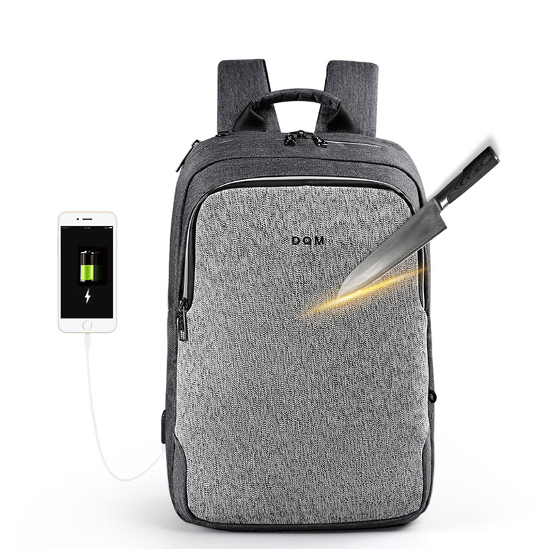 DQM hot sell corte resistente mochila laptop usb back bag mochilas unisex legal bag pack para homens anti roubo mochila mochila
