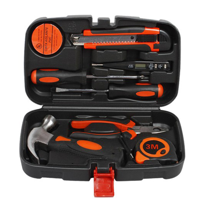 8 in1 Decoration Hardware Tools hand household hardware maintenance tool sets toolbox screwdriver pliers combination of hand tools 16pcs screwdrivers pilers variable tools household tool sets hand tools set
