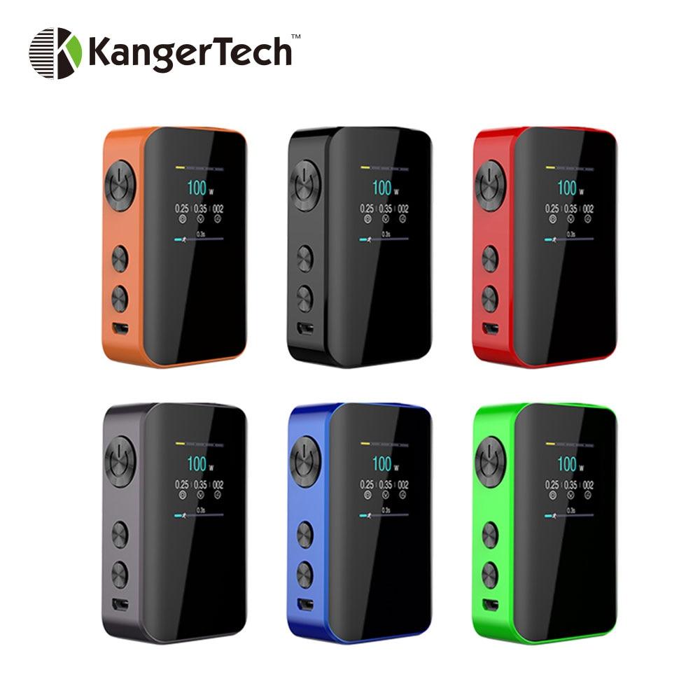 Оригинал Kangertech VOLA 100 Вт TC поле Mod с 2000 мАч Батарея и 1,3 дюйма TFT Экран огромный Мощность e-сигареты Vape поле Mod Vs IKuun I200