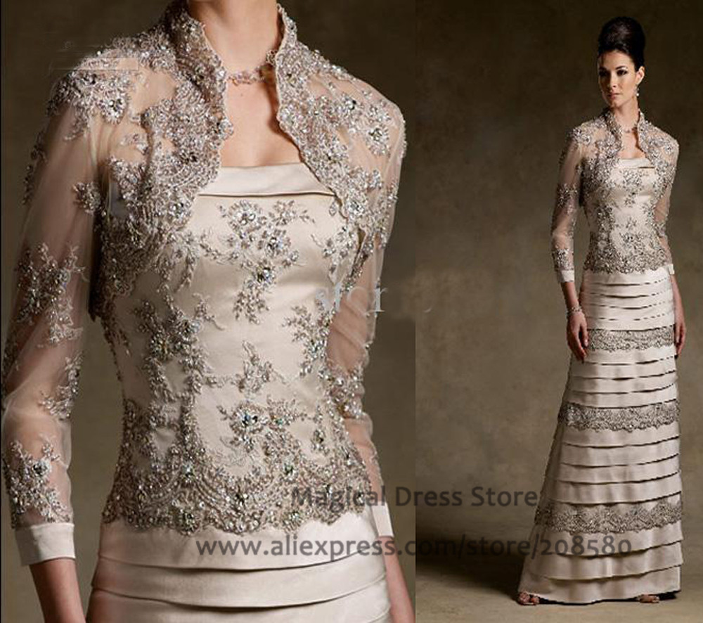 Buy 2016 women formal lace mother of the for Formal wedding dresses for mother of the bride
