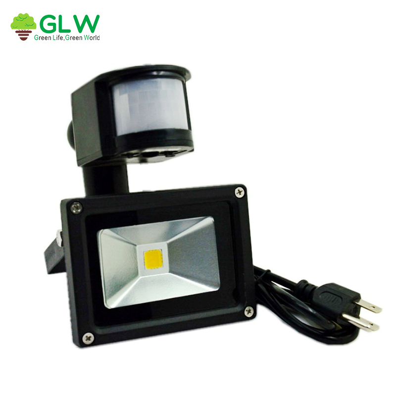 AC85-265V LED Flood Light Outdoor Lamp 10W PIR Motion Sensor Waterproof IP65 Induction Light With US/EU/AU Plug Spotlight Street ...