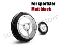 For Harley Sportster XL 1200 883 48 CNC Designe Motorcycle Black Perspective Engine Cover Timing Timer