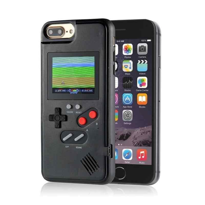 2019 yeni telefon kılıfı için renkli ekran oyun konsolu çalar uyumlu IPhone 6 7 8 X için el klasikleri aksesuarları