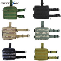 Tactical Military Leg Pouch Dump Drop Molle Hunting Bag Thigh Panel Utility Airsoft Paintball Quick Release