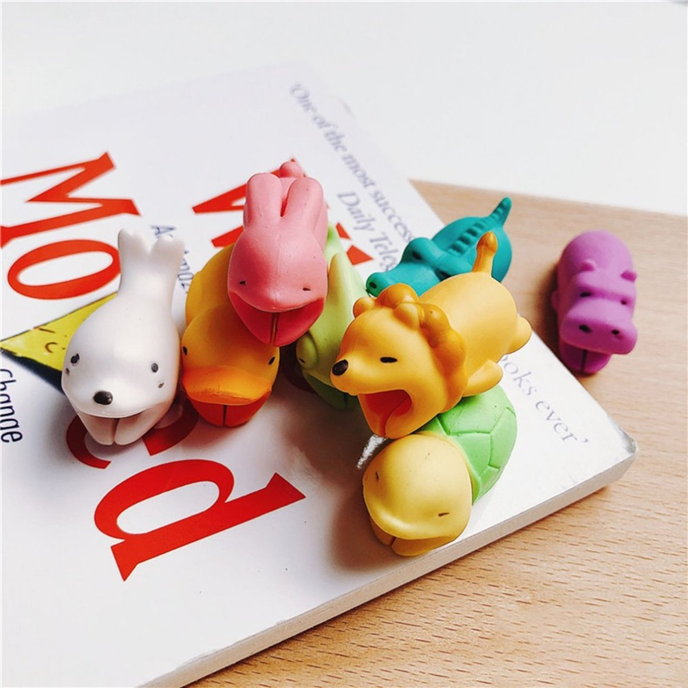 Image 2 - Cute Animal cable protector For iPhone x 8 huawei usb cable organizer cable management organizador de cables For Mouse Headphone-in Cable Winder from Consumer Electronics