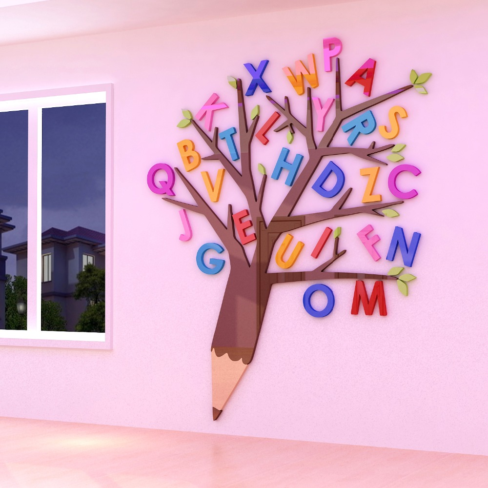 English Tutoring Class Wall Stickers 3d Decorative