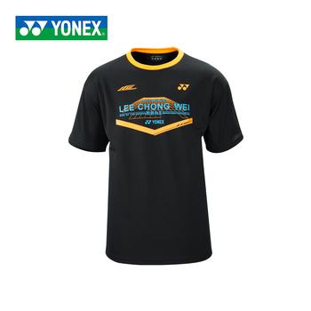 Nowy Yonex mężczyzn badmintona koszulki oddychająca komfort szybkie sucha siłownia Lee Chong Wei w stylu z krótkim rękawem koszulka sportowa tanie i dobre opinie