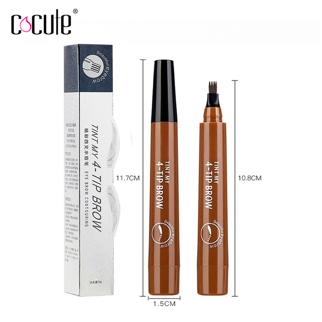 Microblading Eyebrow Pencil Fork Tip Liquid Eyebrow Tatoo Pen 5Colors Waterproof Long Lasting Eye Brow Makeup cosmetics Eyebrows 2