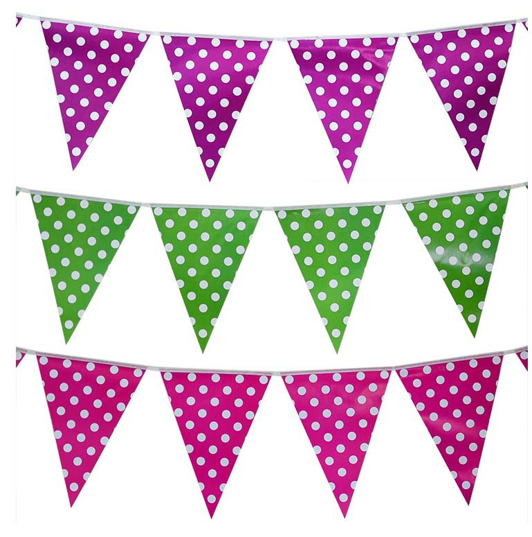 2017 handmade polka dot hanging bar flag banner for champagne party decor birthday halloween new year