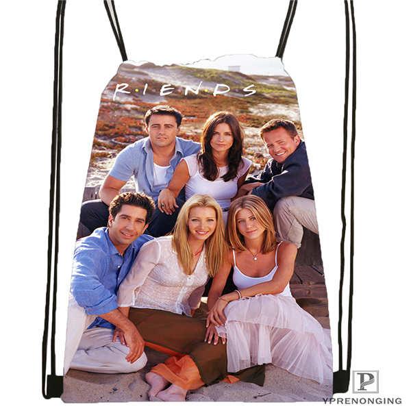 Custom friends complet Drawstring Backpack Bag Cute Daypack Kids Satchel Black Back 31x40cm 2018611 2 10