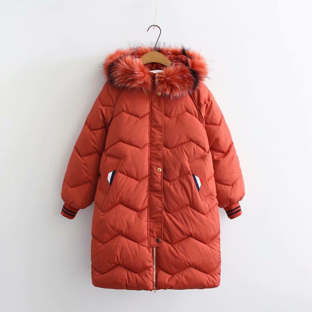 Women Winter   Parkas   Long Ladies Large Fur Collar Hood   Parkas   Thicken Down Cotton Jacket Outwear Plus Size   Parka   4XL