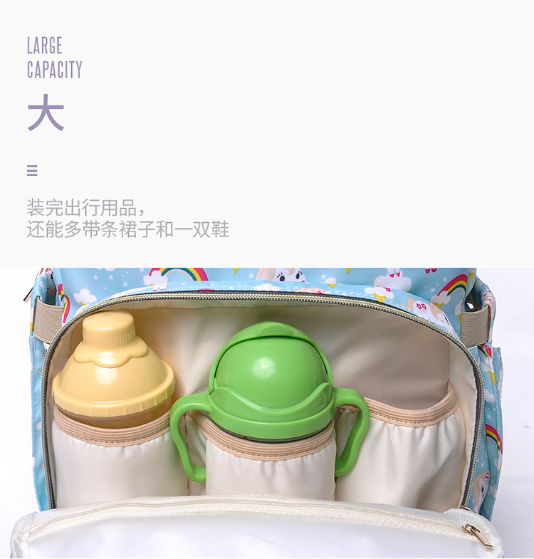 2019 NEW Diaper Bag Mummy Maternity Nappy Bag Women Backpack Nappy Large Capacity Baby Waterproof Travel Shoulder Stroller Bag (12)