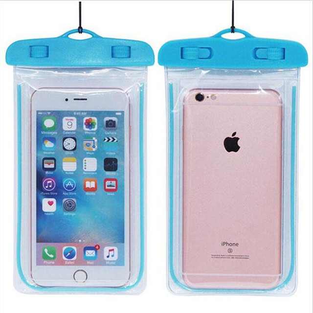 Hot Universal Sealed Waterproof Phone Case Cover Fluorescence Dry Pouch Summer Diving Bag For