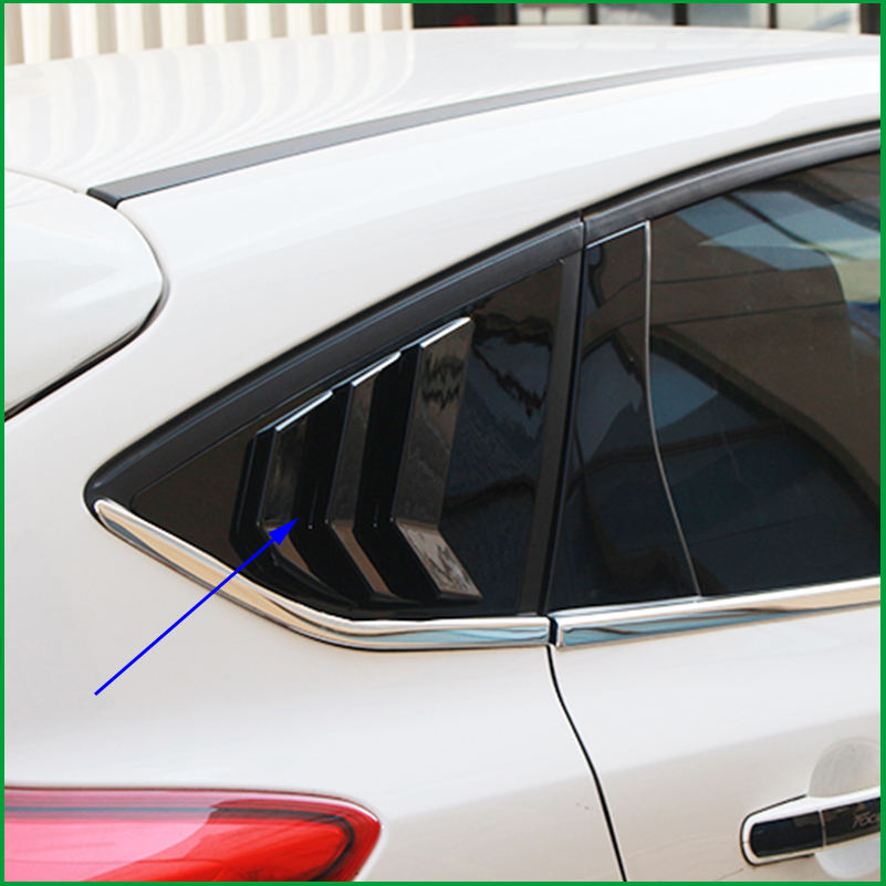 For Ford Focus Hatchback 2012 2013 2014 2015 2016 2017 ABS Door Window Louver Frame Window