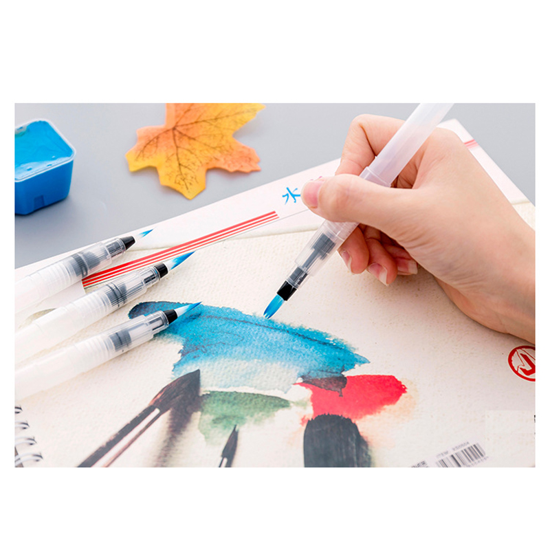 Watercolol Painting Brush  With Water Tank Soft Head Water Brush With Reservoir Fountain Water Pen Calligraphy Brush Art Marker