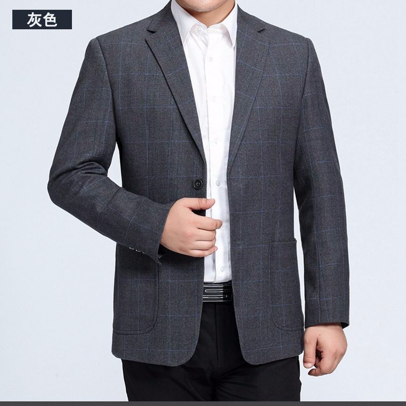 Man Paid Basic Blazer Gray Black Navy Blue Red Suit Jackets Men Casual Blazers Business Office Outfits Short Slim Fit Suit Blazers 2016 (12)
