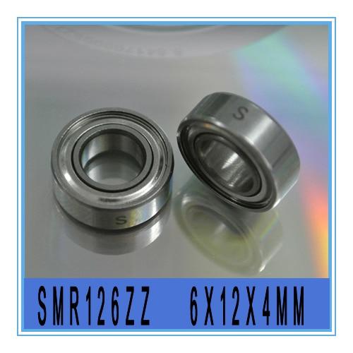 Ball Bearings SMR126ZZ 50pcs 6x12x4mm Stainless Steel Deep Groove Bearings