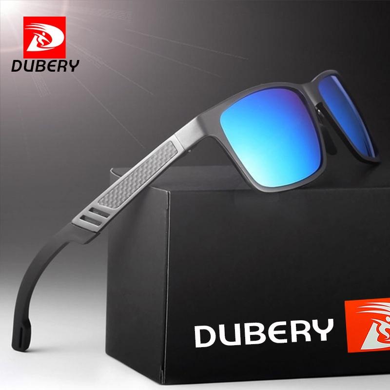 Gafas de sol DUBERY polarizadas de aluminio y magnesio para hombre gafas de sol de conducción HD rectangulares para hombre/Wome Oculos masculino