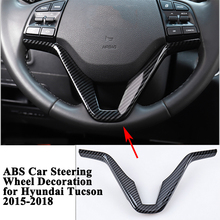 1pc ABS Car Steering Wheel Decoration Styling Sequin Trim Cover Sticker Interior Car Accessories for Hyundai Tucson 2015-2018 for skoda kodiaq 2017 2018 abs steering wheel cover trim decoration interior car styling accessory