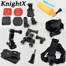 KnightX Outdoor Sports Float Grip Bicycle clip action camera accessories for GoPro Hero 6 5 4 3+ for SJ4000 SJ5000 Action Camera(China)