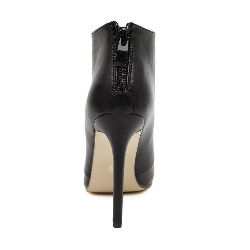 2d1abc4f Rumbidzo nuevas mujeres Suede punta estrecha Botines estilete atractivo  Tacones altos mujeres Zapatos negro y rojo zapatos en Botines de Zapatos en  ...