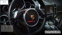 AccessoriesFor Porsce Panamera 2014 Metal Car Steering Wheel Center Decoration Ring Cover Trim Modling Garnish 1