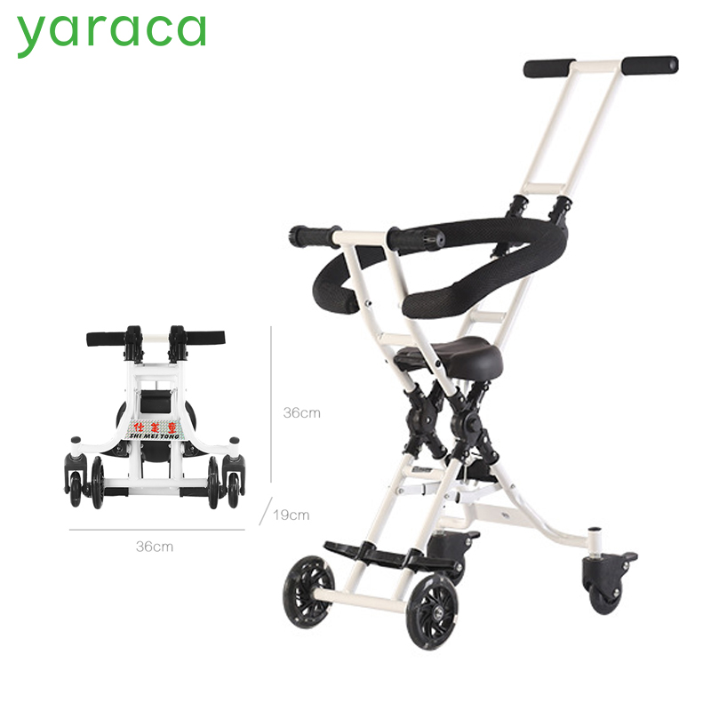 Baby Stroller Super Lightweight Kid Carriage For Travel Small Folding Size Four Wheels Pram With Stable Structure For Children