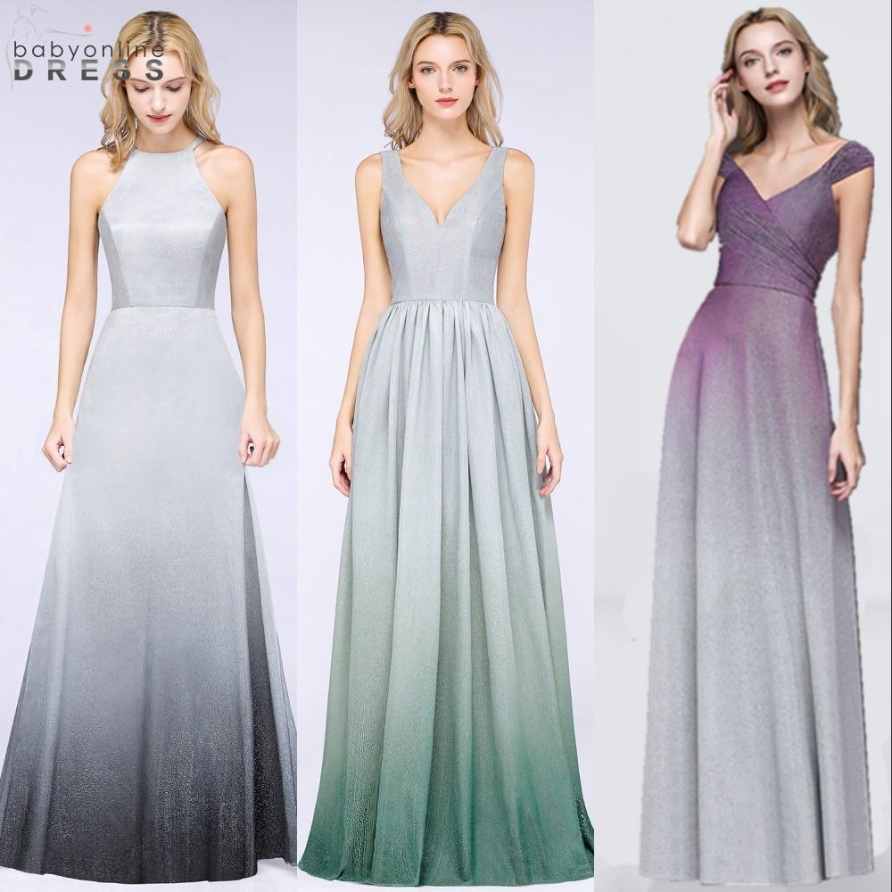 Sexy Open back Ombre Prom Dresses Long 2019 Elegant Cap Sleeve Bright Silk Purple Prom Gowns Vestido de Festa Longo