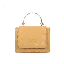 Ladies Summer Small Square Bag Joker Messenger Shoulder Bag Mini Handbag Coin Purse Pu Zipper Yellow Crossbody Bags For Women