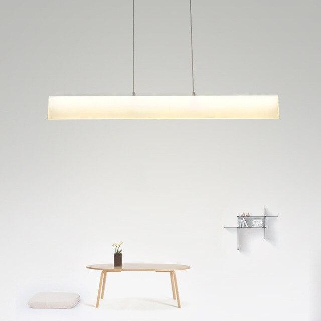 Frameless Modern Long Acrylic Pendant Light Dining Room Study Office ...