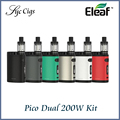 Nueva original pico doble tc kit eleaf istick 200 w con pico de doble caja mod e vaporizador eleaf melo 3 mini atomizador 2 ml kit vaper