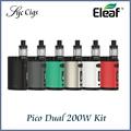 Nueva original pico doble tc kit eleaf istick 200 w con pico de doble caja mod e vaporizador eleaf melo 3 mini atomizador 2 ml kit vaper