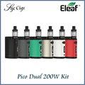Original novo pico dual tc kit eleaf istick 200 w com pico duplo caixa de mod e kit eleaf melo 3 mini atomizador 2 ml vaporizador vaper
