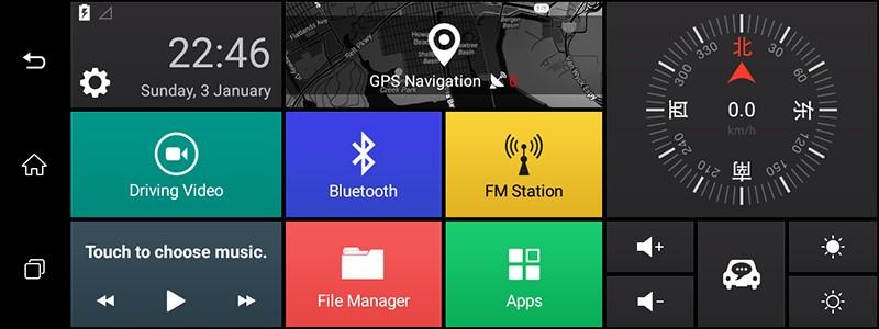 Free 32GB card+3G Car DVR+Android 5.0 Bluetooth GPS WIFI Dual lens rearview mirror camera+FHD1080P camara automovil Phisung H2 25