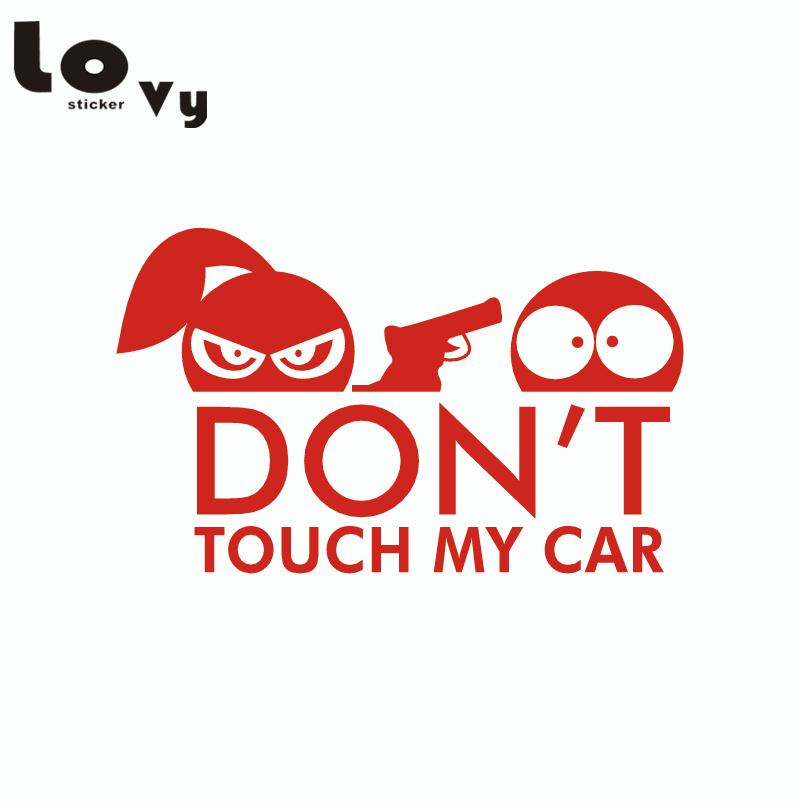 RÖR INTE MIN BIL Vinyl Bilklistermärke Rolig tecknad mönster Car - Exteriör biltillbehör - Foto 3