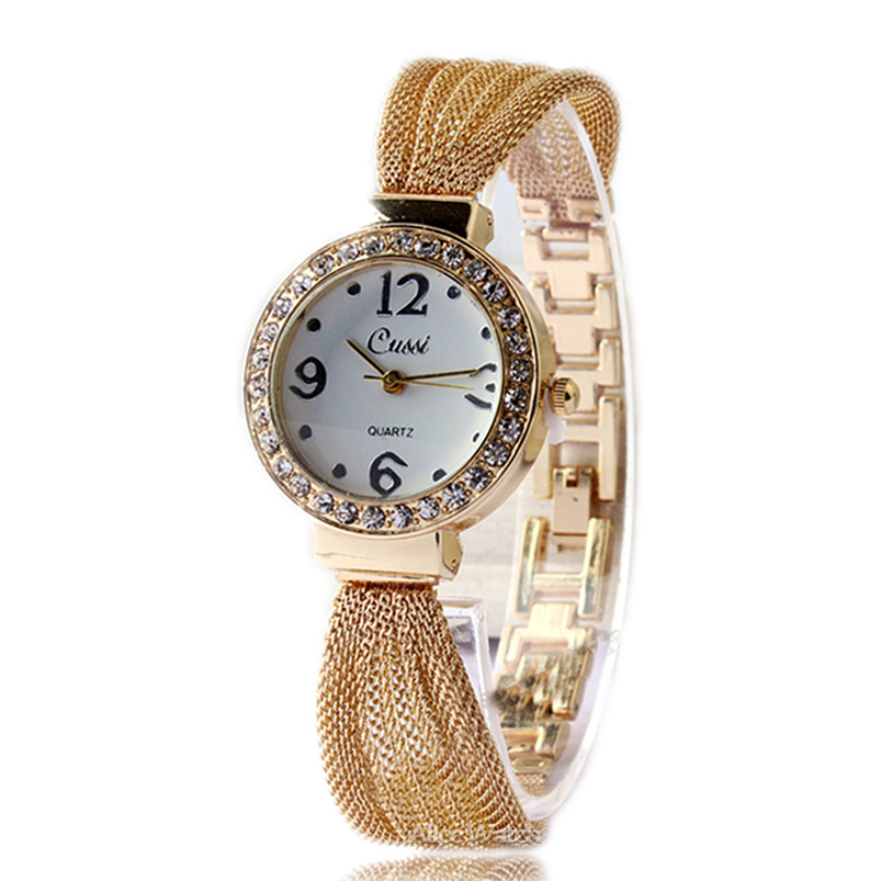 2017 Luxury Rhinestone Quartz Ladies Watch Gold Stainless Steel Bracelet Watches Women reloj pulsera mujer Relogio Feminino vintage silver quartz watch fashion stainless steel luxury women watches rhinestone ladies bracelet watches relogio feminino