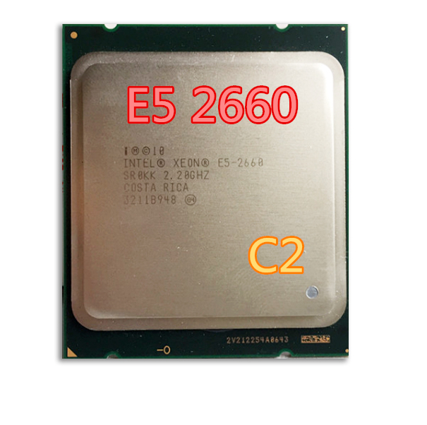ФОТО For Intel Xeon Processo SR0KK E5-2660 20M Cache/2.2/GHz/8.00 GT/s 95W LGA 2011 E5 2660,  free shipping