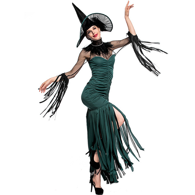 919ca511a50 US $25.53 8% OFF Women Vampire Costume Girl Witch Dress Adult Gothic Dark  Queen Cosplay Cobweb Spider Fancy Dress for Carnival Halloween Costume on  ...