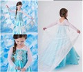 Brand Girl Dress Summer Toddler Girls Clothes Lace Sequins Princess Anna Elsa Dress Snow Queen Halloween Party Cosplay Costume