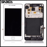 Sinbeda Super AMOLED HD LCD Display Touch Screen Digitizer Frame Assembly For Samsung Galaxy S2 I9100